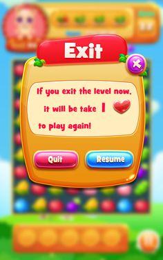 Original works: [Finishing] fruit eliminate game interface ui ...