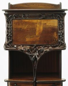 Cabinet by Louis Majorelle, made Nancy France ca. 1900 detail
