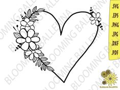 Hand Embroidery Patterns Flowers, Hand Embroidery Art, Embroidery Stitches, Embroidery Designs, Floral Drawing, Heart Frame, Art Drawings Sketches Simple, Monogram Frame, Frame Crafts