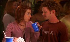 """Alyson Hannigan And Seth Green Have A Mini """"Buffy"""" Reunion"""
