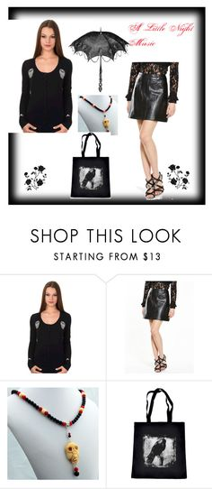 """A Little Night Music"" by rivendellrockjewelry on Polyvore featuring Banned and Fashion Union"