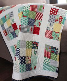 Lap quilt in Camille Roskelley's April by morethanjustquilts, $225.00