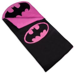 Slumber parties just got better with this Batgirl Sleeping Bag for kids.˜Young Batgirl fans will love the rich black and pink design and comfort and parents will love how safe it is, giving everyone Roll Up Design, Kids Sleeping Bags, Girl Sleeping, Lego, Batman Logo, Pink Design, Slumber Parties, Sleepover, Kids Bags