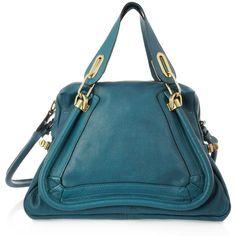 Chloé Paraty Medium leather shoulder bag via Polyvore