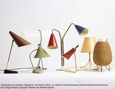 Carl Auböck, table lamps, 1950/55. Hagenauer und Kalmar, Vienna.