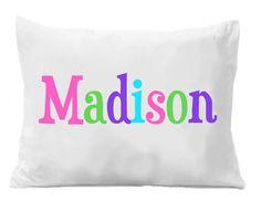 Monogram Pillowcase - Girls Personalized Pillow case - Printed Monogram Name Pillowcase - Birthday Gift - Christmas Gift - Kids Gifts Personalized Pillow Cases, Custom Pillow Cases, Birthday Gifts For Boys, Boy Birthday, Christmas Gifts For Kids, Kids Gifts, Monogram Pillowcase, Etsy, Prints