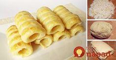 Najlepšie domáce lístkové cesto Cream Horns, Snack Recipes, Snacks, Chips, Dairy, Food And Drink, Sweets, Beef, Dishes