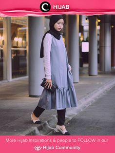 Wearing tunic dress and slim jeans. Very comfortable and casual style for hijabers. Simak inspirasi gaya Hijab dari para Clozetters hari ini di Hijab Community. Image shared by Clozetter: @liaardiatami. Yuk, share juga gaya hijab andalan kamu