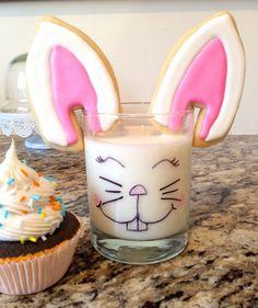 Easter Bunny Ear Sugar Cookies