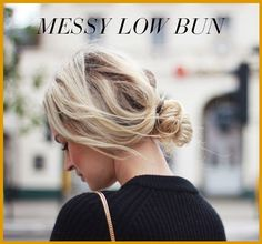 messy low bun