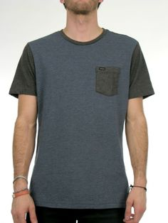 The RVCA Change Up is a jersey knit shirt with contrasting short sleeves, ribbed crewneck, and a patch pocket at the left chest with RVCA so...