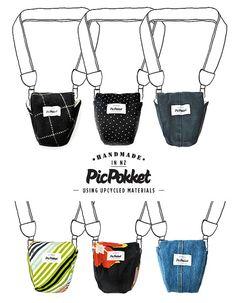 PicPokket DSLR camera bag / case / pocket by MaikoNagao on Etsy