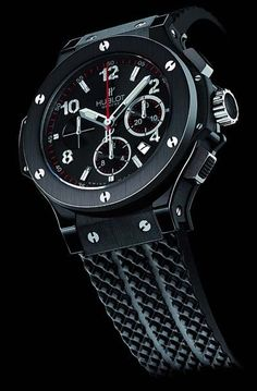 "Hublot Big Bang ""Black Magic"" chronograph watch, now even racier, even bolder, even more high-tech."