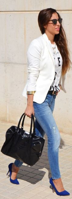 #perfect #jeans but maybe kitten heels instead. I like the bright colors
