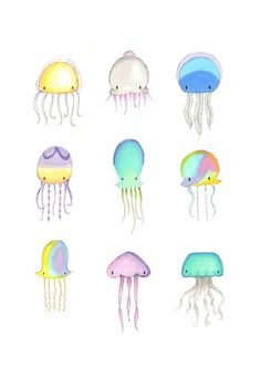 A beautiful fine art print featuring our super cute jellyfish illustrations.  Professionally printed onto pearl art paper, these prints have a warm