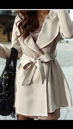 Cream Color Trench
