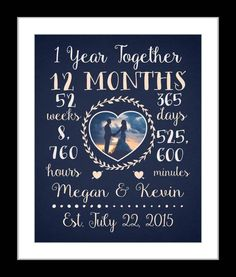 Any Or 3 Year Anniversary Gift Wedding