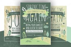 6 Spring Flyers Vector Print by DesignSomething on Creative Market