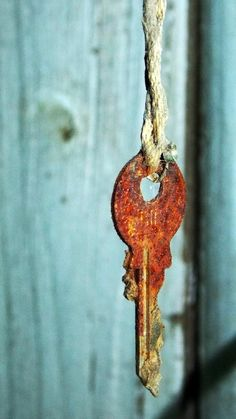 old key | Very cool photo blog - And precisely what sort of thing/place/treasure might this have once unlocked?  And why was it left to rust  on an old piece of string?