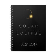 Total Solar Eclipse 2017 Spiral Notebook ❤ liked on Polyvore featuring home, home decor and stationery
