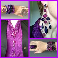 Blouse from and op shop, waistcoat from Target, bracelet stack by Jewel Divas