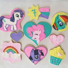 My little Ponie royal icing sugar cookies my little by Etsy KessaCakes