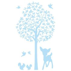 Muursticker boom In het bos (22 kleuren) van het merk DecoDeco hier online kopen. Mooie muursticker boom voor de babykamer.