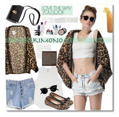 """Kimono Cool"" by merima-balukovic ❤ liked on Polyvore featuring Melissa McCarthy Seven7, Salvatore Ferragamo, Bormioli Rocco, Avon, kimonos and plus size clothing"