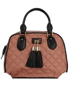 DP Pink Quilted Bowling Bag