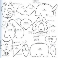 Patterns for felt toys Felt Ornaments Patterns, Dog Ornaments, Felt Patterns, Applique Patterns, Craft Patterns, Plushie Patterns, Animal Sewing Patterns, Felt Dogs, Dog Pattern