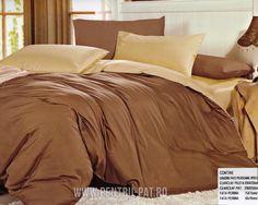 Lenjerie de pat bumbac satinat Pucioasa UNI  Crem si Maro Uni, Comforters, Blanket, Home, Creature Comforts, Blankets, Ad Home, Homes, Carpet