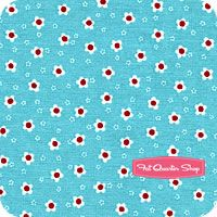 Aqua Red Aqua Sweet Posie Yardage - several other aqua and red prints on this page Green Apron, Barn Dance, Aqua Fabric, Nursery Fabric, Michael Miller Fabric, Fat Quarter Shop, Red Flowers, Aprons, Color Schemes