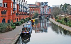 Cruise down a canal in Birmingham, England. Looks like fun! Italy can't hog all the canal goodness! #england #canals