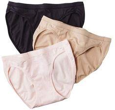 3 pièces Hanes Femmes Slip Mini Doux Coton Confortable Bottes de NEUF