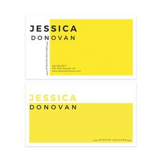 Yellow Minimalist Business Card Design  by VisualPixie on Etsy