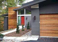 best ideas for house colors exterior modern garage House Paint Exterior, Exterior Paint Colors, Exterior House Colors, Exterior Design, Paint Colours, Modern House Design, Home Design, Design Ideas, Yard Design
