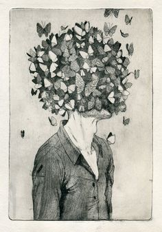 100 Years of Solitude etchings by Maria Shishova, via Behance
