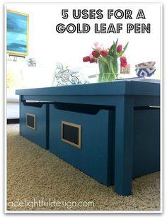 5 uses for a gold leaf pen| A Delightful Design
