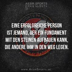 Hindernisse und Komplikationen sind nur ein Test, um zu sehen, wie wichtig dir dein gestecktes Ziel wirklich ist. Wenn du es willst, findest du immer einen Weg. - www.AesirSports.de   #Erfolg #Inspiration #Motivation #Zitat #Zitate #Steine #Hindernisse #AesirSports