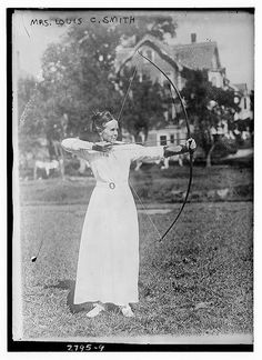 Mrs. Louis C. Smith - archery  (LOC)