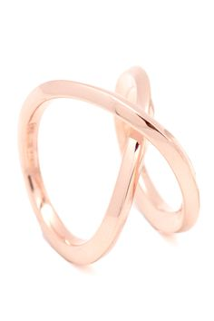 inifinity rose gold ring More
