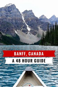 Banff: What To Do When You Have 48 Hours In Banff, Canada Planning to travel to Banff? I wrote a 48 Hours in Banff guide with inspiration and photos of what to do when visiting this jewel of Canada. Alberta Travel, Banff Alberta, Alberta Canada, Canadian Travel, Canadian Rockies, Vancouver Island, Places To Travel, Places To Visit, Visit Canada
