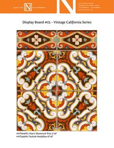 Our Collection - Native Tile & Ceramics California Colors, Vintage California, Plaster Molds, Style Tile, Hand Engraving, Craftsman Style, Building Materials, Tile Design, Patio Ideas
