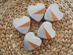 Deko-Objekte - ♥ 5 Herzen aus Beton ♥ - ein Designerstück von handgewerklt bei DaWanda