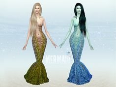 Halloween is coming and for the occasion i bring you this Mermaid Costume for your sim gals. Teen to elder. Comes in 10 colors and with custom thumbnail. Custom mesh by me.  Found in TSR Category...