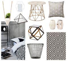 Home Decor Designs Of Geometric Decor - savillefurniture Geometric Box, Geometric Decor, Home Decor Shops, Home Office Decor, Design Your Home, House Design, Blogger Home, Inside Design, Bedroom Themes