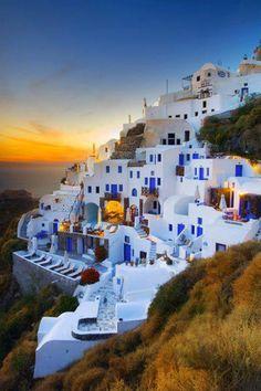 Oia village in Santorini island ~ Greece