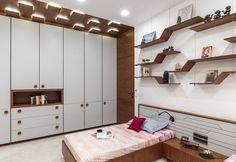 Swaram - A Contemporary House Contemporary House, Bedroom Closet Doors, Bedroom Interior, Interior Deco, Ceiling Design Bedroom, Interior, Room Design, Wardrobe Design Bedroom, Bed Design