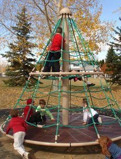 Climbing net nro813 climbing playground equipment for Playground equipment ideas