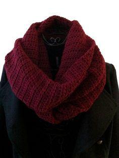 S comme... Snood, modèle snood crochet gratuit en francais, free french pattern                                                                                                                                                                                 Plus